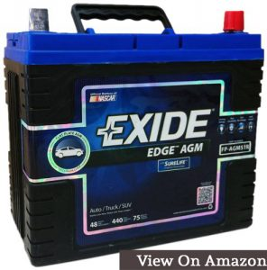 Exide Edge FP-AGM51R Flat Plate AGM Sealed